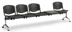 Plastová lavice do čekáren ISO Biedrax LC9731C - podnož chromovaná