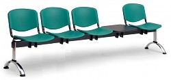 Plastová lavice do čekáren ISO Biedrax LC9731Z - podnož chromovaná
