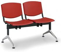 Plastová lavice do čekáren Smile Biedrax LC9952CV - podnož leštěný hliník