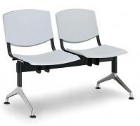 Plastová lavice do čekáren Smile Biedrax LC9952S - podnož leštěný hliník