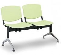 Plastová lavice do čekáren Smile Biedrax LC9952Z - podnož leštěný hliník