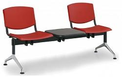 Plastová lavice do čekáren Smile Biedrax LC9964CV - podnož leštěný hliník