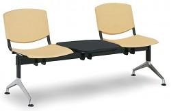 Plastová lavice do čekáren Smile Biedrax LC9964ZL - podnož leštěný hliník
