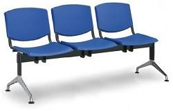 Plastová lavice do čekáren Smile Biedrax LC9958M - podnož leštěný hliník