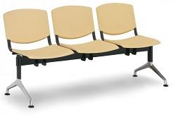 Plastová lavice do čekáren Smile Biedrax LC9958ZL - podnož leštěný hliník