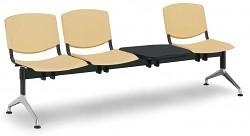 Plastová lavice do čekáren Smile Biedrax LC9970ZL - podnož leštěný hliník