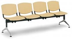 Plastová lavice do čekáren Smile Biedrax LC9976ZL - podnož leštěný hliník