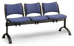 Čalouněná lavice do čekáren Smart Biedrax LC9214M - podnož černá