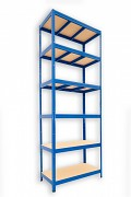 kovový regál Biedrax 45 x 90 x 240 cm - 6 polic x 275kg, modrý