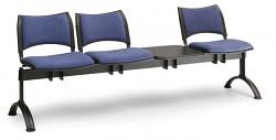 Čalouněná lavice do čekáren Smart Biedrax LC9215M - podnož černá