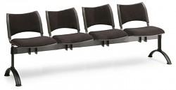 Čalouněná lavice do čekáren Smart Biedrax LC9216C - podnož černá