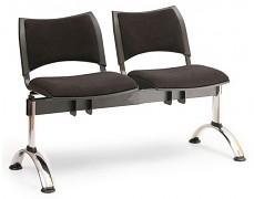 Čalouněná lavice do čekáren Smart Biedrax LC9218C - podnož chromovaná