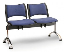 Čalouněná lavice do čekáren Smart Biedrax LC9218M - podnož chromovaná