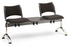 Čalouněná lavice do čekáren Smart Biedrax LC9219C - podnož chromovaná