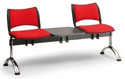 Čalouněná lavice do čekáren Smart Biedrax LC9219CV - podnož chromovaná