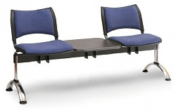 Čalouněná lavice do čekáren Smart Biedrax LC9219M - podnož chromovaná