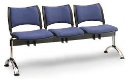 Čalouněná lavice do čekáren Smart Biedrax LC9220M - podnož chromovaná