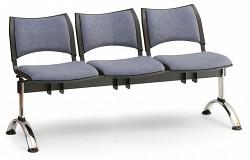 Čalouněná lavice do čekáren Smart Biedrax LC9220S - podnož chromovaná