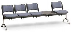 Čalouněná lavice do čekáren Smart Biedrax LC9223S - podnož chromovaná