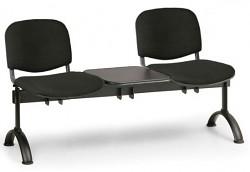 Čalouněná lavice do čekáren Viva Biedrax LC9369C - podnož černá