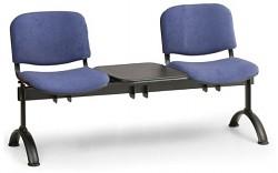 Čalouněná lavice do čekáren Viva Biedrax LC9369M - podnož černá