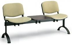 Čalouněná lavice do čekáren Viva Biedrax LC9369Z - podnož černá