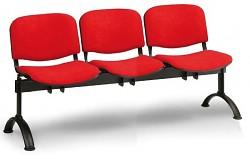 Čalouněná lavice do čekáren Viva Biedrax LC9370CV - podnož černá