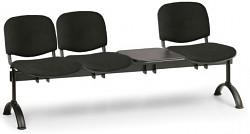 Čalouněná lavice do čekáren Viva Biedrax LC9371C - podnož černá