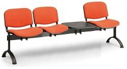 Čalouněná lavice do čekáren Viva Biedrax LC9371O - podnož černá