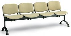 Čalouněná lavice do čekáren Viva Biedrax LC9372Z - podnož černá