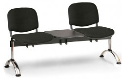 Čalouněná lavice do čekáren Viva Biedrax LC9375C - podnož chromovaná