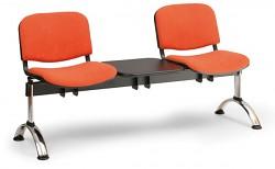Čalouněná lavice do čekáren Viva Biedrax LC9375O - podnož chromovaná
