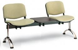 Čalouněná lavice do čekáren Viva Biedrax LC9375Z - podnož chromovaná