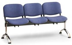 Čalouněná lavice do čekáren Viva Biedrax LC9376M - podnož chromovaná
