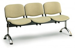 Čalouněná lavice do čekáren Viva Biedrax LC9376Z - podnož chromovaná