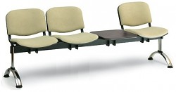 Čalouněná lavice do čekáren Viva Biedrax LC9377Z - podnož chromovaná