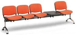 Čalouněná lavice do čekáren Viva Biedrax LC9379O - podnož chromovaná