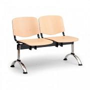 Dřevěná lavice do čekáren ISO Biedrax LC9741 - podnož chromovaná