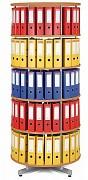 regál otočný archivační - 5 pater, buk Biedrax AS4659