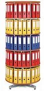 regál otočný archivační - 5 pater, třešeň Biedrax AS4669