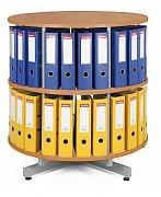 regál otočný archivační - 2 patra, buk Biedrax AS3375