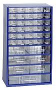 závěsná skříňka, box organizér na šroubky - Biedrax 6723 modrá, standardní provedení