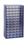 závěsná skříňka, box organizér na šroubky - Biedrax 6750 modrá, standardní provedení