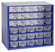 závěsná skříňka, box organizér na šroubky - Biedrax 6762 modrá, standardní provedení