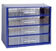 závěsná skříňka, box organizér na šroubky - Biedrax 6766 modrá, standardní provedení