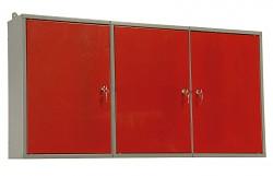 skříňka do dílny na nářadí, kovová, dílenská, dvoudílná - Biedrax KS5810