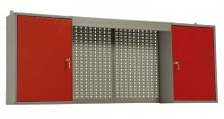 skříňka do dílny na nářadí, kovová, dílenská, dvoudílná - Biedrax KS5811