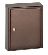 poštovní schránka na dopisy, noviny, lakovaná hnědá - Biedrax SD6184