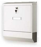 poštovní schránka na dopisy, noviny, lakovaná bílá - Biedrax SD6301