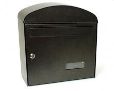 poštovní schránka na dopisy, noviny, lakovaná hnědá - Biedrax SD6322